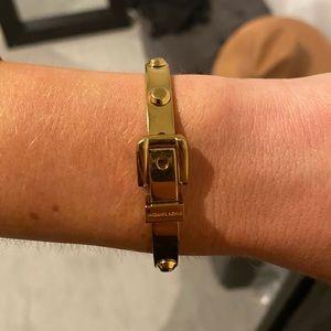 Michael Kors Gold Buckle Bracelet